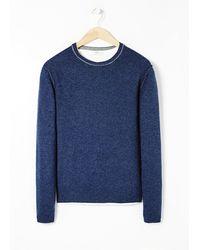 Mango Camo Elbow-patch Wool-blend Sweater - Lyst