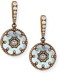 Arunashi - Mother-of-pearl And Diamond Flower Earrings - Lyst