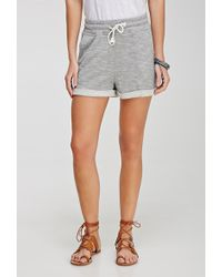 Forever 21 Marled French Terry Shorts - Lyst