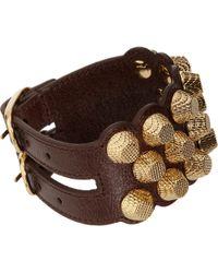 Balenciaga Arena Three Row Giant Bracelet brown - Lyst