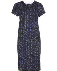 Balenciaga Printed Cotton T-Shirt Dress - Lyst