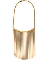 Chloé - Gold Delfine Fringed Chain Necklace - Lyst
