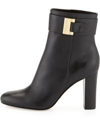Michael by Michael Kors Giuliana Leather Bootie - Lyst
