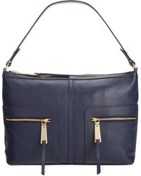 Tommy Hilfiger T-Group Pebble Leather Hobo - Lyst