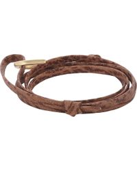 Miansai - Sharkskin Wrap Bracelet - Lyst