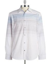 Calvin Klein White Brushstoke Sportshirt - Lyst