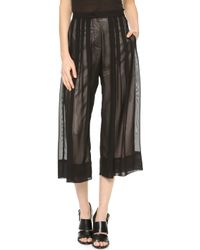 Lovers + Friends - Lovers Friends Monica Rose Cannes Gaucho Trousers Blackbone - Lyst