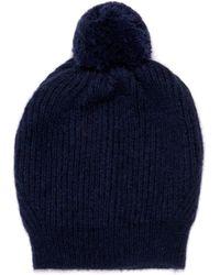 Stella McCartney - Ribbed-Knit Bobble Hat - Lyst