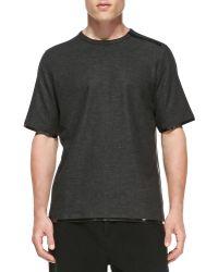 Alexander Wang Short-sleeve Taped-seam T-shirt - Lyst