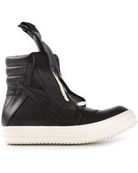 Rick Owens Black Hitop Sneakers - Lyst