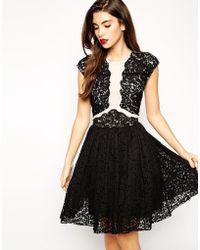 Asos Premium Prom Dress With Lace Applique - Lyst