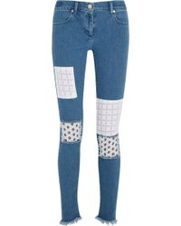 House of Holland - Patched Skinny Jeans - Lyst