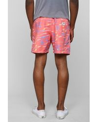Urban Outfitters - Franks Palms Pink Swim Trunk - Lyst