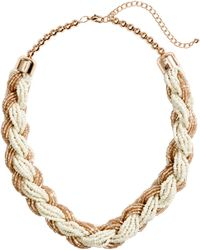 H&M Short Necklace white - Lyst
