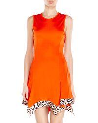 Just Cavalli Orange Handkerchief Dress - Lyst