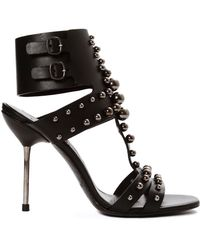 Pedro Garcia Muriel Studded Heels black - Lyst