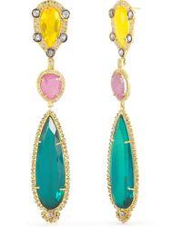 Ralph Lauren Multicolored Drop Earrings - Lyst