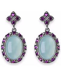 Platadepalo - Chalcedony Silver Earrings With Zircon Stones - Lyst