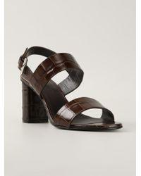 Jil Sander Crocodile Skin Effect Sandals - Lyst