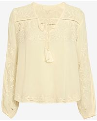 Love Sam   Embroidered Blouse: Ivory   Lyst