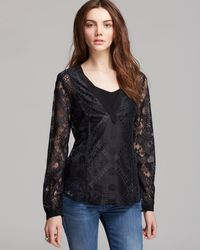 Twelfth Street by Cynthia Vincent  Lace V Blouse - Lyst