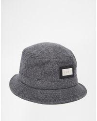 King Apparel - Script Heritage Bucket Hat - Grey - Lyst