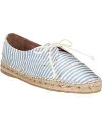 Tabitha Simmons Dolly Striped Laceup Espadrilles - Lyst