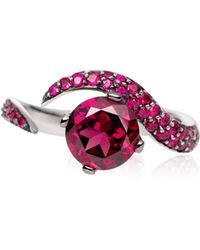 Shaun Leane - White Gold Ring with Round Shaped Rhodalite and Rubies - Lyst