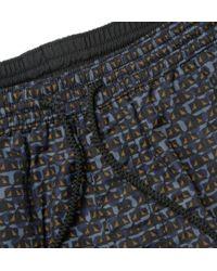 Burberry Brit - Geometric-Print Mid-Length Swim Shorts - Lyst