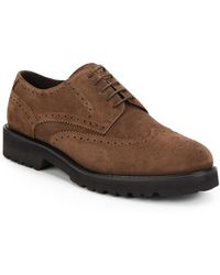 Bruno Magli Majro Suede Wingtip Brogues - Lyst