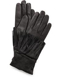 Club Monaco - Kimmy Fringe Gloves - Black - Lyst