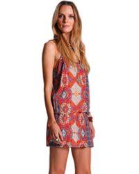 Sw3 Bespoke Stanton Tribal Print Dress - Lyst