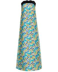 OSMAN Isis Swirl-Jacquard Strapless Gown - Lyst