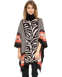 Alice By Temperley Ali Poncho Black Mix - Lyst