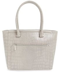 Halogen - 'pine Street' Textured Leather Tote - Lyst