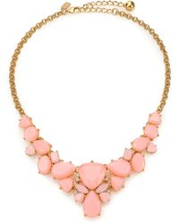 Kate Spade Color Pop Statement Necklace pink - Lyst