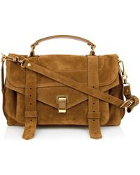 Proenza Schouler Ps1 Medium Suede Bag - Lyst