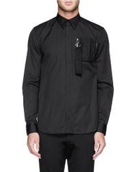 Givenchy Piqué Chest Pocket Poplin Shirt - Lyst