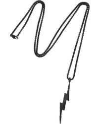 Vitaly - Zanmi Matte Black Lightning Bolt Necklace - Lyst