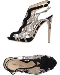 Alexandre Birman Black Sandals - Lyst