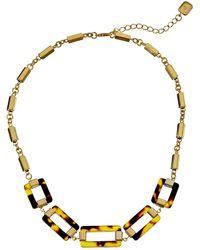 Lauren by Ralph Lauren Bar Harbor 16 Tortoise Link W Metal Bar Chain Frontal W Lobster Closure Necklace - Lyst