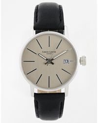 Simon Carter - Brown Leather Strap Watch - Lyst