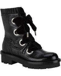 Alexander McQueen Patent Biker Boot - Lyst