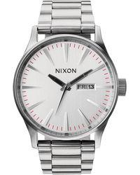 Nixon   Sentry Stainless Steel Watch   Lyst