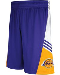 Adidas Mens Los Angeles Lakers Pre-game Shorts - Lyst