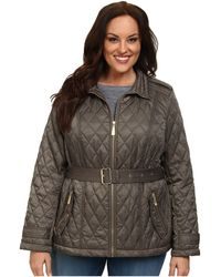 Vince Camuto Plus Size Quilted Coat - Lyst