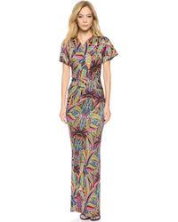 Just Cavalli Vintage Jungle Print Maxi Dress Multicolor - Lyst