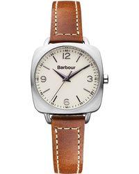 Barbour - Bb003sltn Women's Alest Leather Strap Watch - Lyst