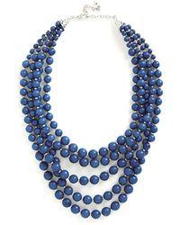 Zad Fashion Inc. You Bijou Necklace in Sapphire - Lyst