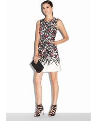 Milly Abstract Print Coco Dress pink - Lyst